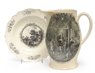 AN ENGLISH CREAMWARE TRANSFER-