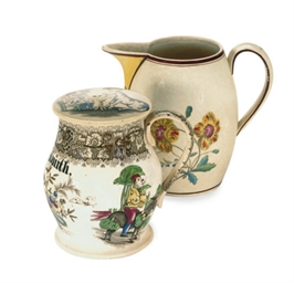 A DOCUMENTARY CREAMWARE JUG,