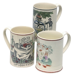 THREE STAFFORDSHIRE CREAMWARE