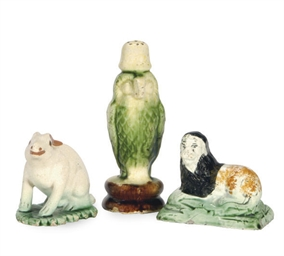 THREE STAFFORDSHIRE POTTERY MO