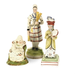 TWO STAFFORDSHIRE PEARLWARE SM