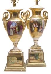 A PAIR OF PARIS PORCELAIN GOLD