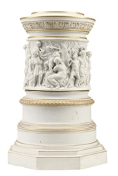 A CONTINENTAL BISCUIT PORCELAI