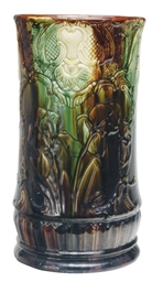 A MAJOLICA UMBRELLA STAND,