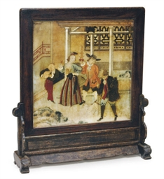 A FRAMED CHINESE EXPORT SOAPST