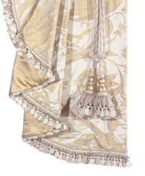 A GROUP OF EIGHT COWTAN AND TOUT SILK DAMASK CURTAIN PANELS ...