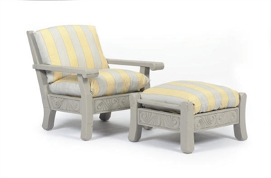 A PAIR OF TEAK ARMCHAIRS TOGET