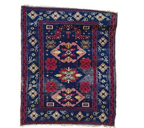 A SHIRVAN PRAYER RUG,