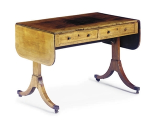 A REGENCY ROSEWOOD SOFA TABLE*