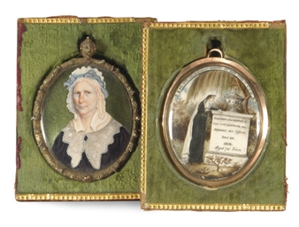 TWO OVAL PORTRAIT MINIATURES P