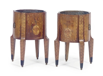 A PAIR OF DUTCH MAHOGANY, MARQ