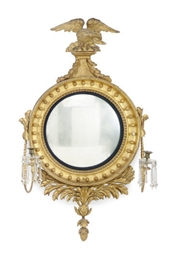 AN REGENCY GILTWOOD AND CUT-GL