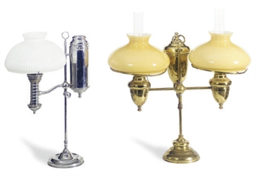 TWO STUDENT LAMPS,