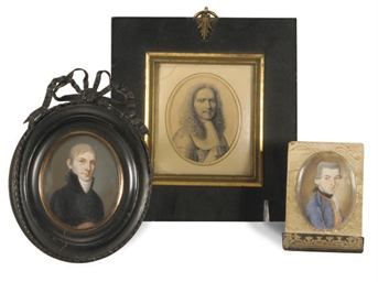 A GROUP OF PORTRAIT MINIATURES