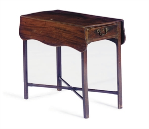A MAHOGANY PEMBROKE TABLE,