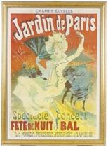 A LITHOGRAPH IN COLORS, 'JARDIN DE PARIS',