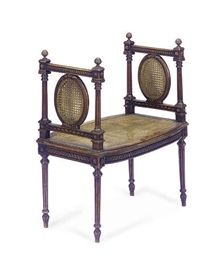 A FRENCH STAINED BEECHWOOD AND