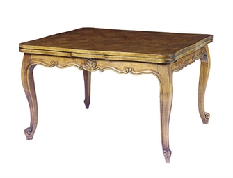 A FRENCH PROVINCIAL WALNUT DRA