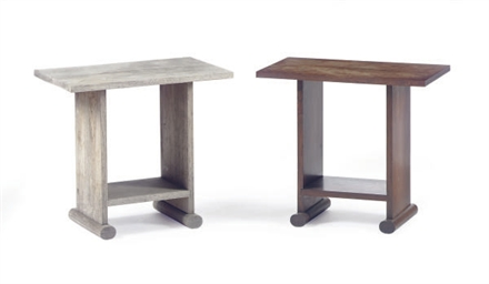 FOUR WALNUT SIDE TABLES,