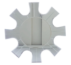 A BEVELED GLASS STARBURST-FORM