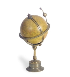 A FRENCH TERRESTRIAL GLOBE TIM