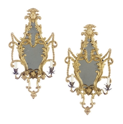 A PAIR OF ENGLISH GILTWOOD TWO
