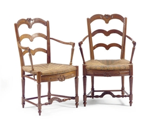 A PAIR OF FRENCH PROVINCIAL CH