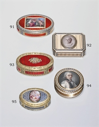 A SWISS PARCEL-ENAMELLED GOLD