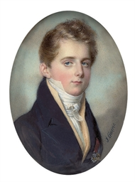 A young gentleman, in blue coa