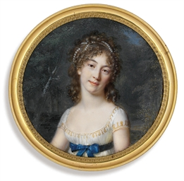 A young lady, in gold-embroide