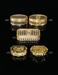 A RARE DUTCH GOLD SNUFF-BOX