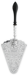 A GEORGE III SILVER FISH-SERVE