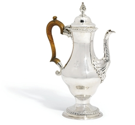 A GEORGE III SILVER COFFEE-POT