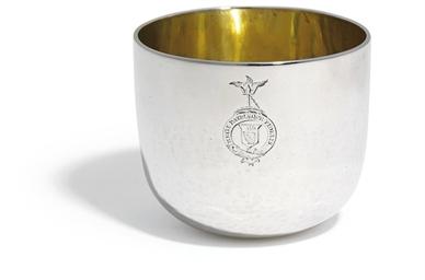 A GEORGE II SILVER TUMBLER-CUP