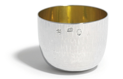 A GEORGE I SILVER TUMBLER CUP
