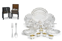 AN EXTENSIVE FRENCH SILVER AND SILVER-GILT TABLE AND DINNER-SERVICE