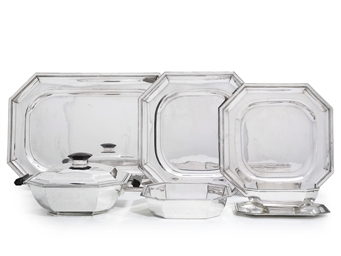 A FRENCH SILVER DINNER-SERVICE