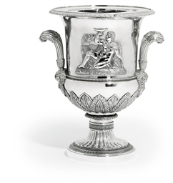 A FRENCH SILVER WINE-COOLER AN