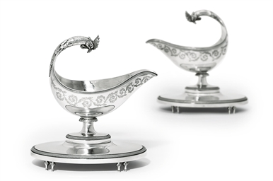 A PAIR OF LOUIS XVI SILVER SAU