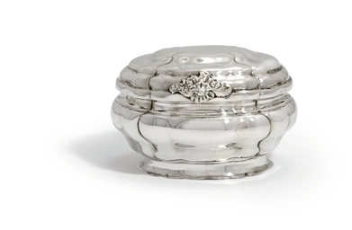 A GERMAN SILVER SUGAR-BOX