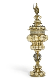 A GERMAN PARCEL-GILT SILVER CU