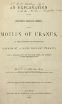 ADAMS, John Crouch (1819-1892) An Explanation of the Observe