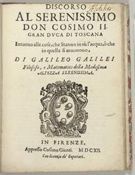 GALILEI, Galileo. Discorso al