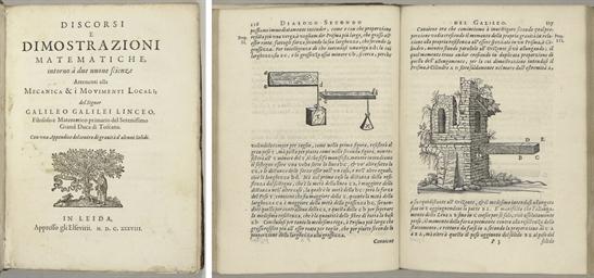GALILEI, Galileo. Discorsi e d
