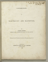 HENRY, Joseph (1797-1878). Con
