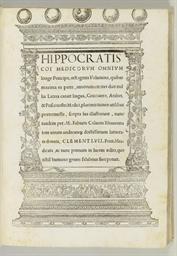 HIPPOCRATES (460-ca-370 B.C.).