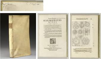 KEPLER, Johannes. Harmonices mundi libri V. Linz: Johann Planck for Gottfried Tampach, 1619.