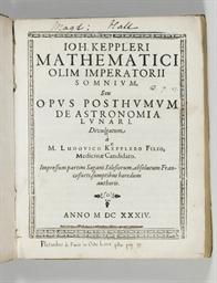 KEPLER, Johannes. Somnium, seu