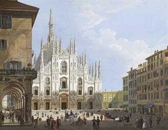 Veduta del Duomo con i portici