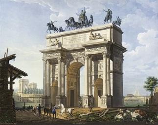 Arco della Pace con l'Arena su